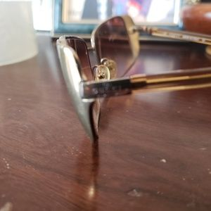 Gucci prescription sunglasses gold embossed